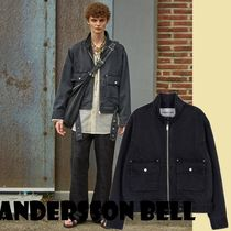 ★ANDERSSON BELL★限定MULLENS BELTED BIKER DENIM JACKET