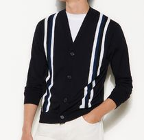 "sandro(サンドロ) カーディガン ""sandro homme"" Cardigan with contrasting stripes Navy"
