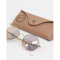 Rayban oval sunglasses in gold 0RB1970