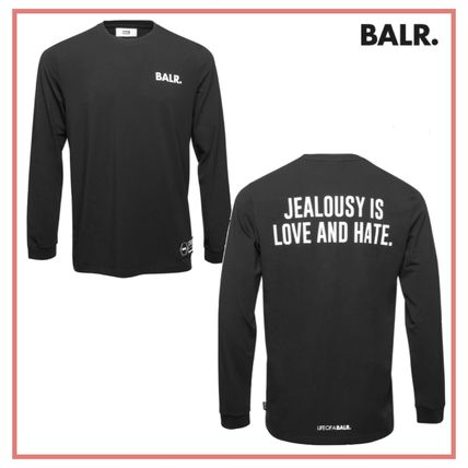 【BALR.】ボーラー LOVE AND HATE STRAIGHT ロゴ 長袖 Tシャツ