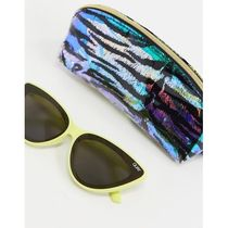Quay Flex cat eye sunglasses in yellow exclusive t