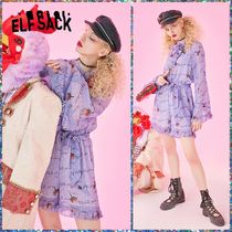 可愛い♪ ☆ELFSACK☆ Jumpsuits Casual Sweet Purple Floral
