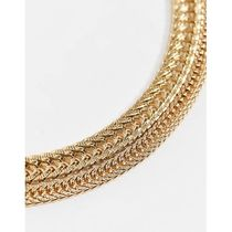 Liars & Lovers multirow necklace in gold snake cha