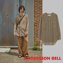 ★ANDERSSON BELL★限定COLLARLESS EMBROIDERY COTTON SHIRTS