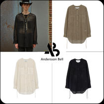 ANDERSSON BELL(アンダースンベル) シャツ [ANDERSSON BELL]★COLLARLESS EMBROIDERY COTTON SHIRTS