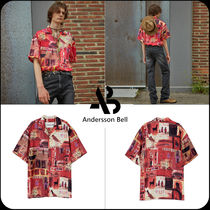 [ANDERSSON BELL]★限定販売★BUENO RED OPEN COLLAR SHIRT
