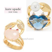 【kate spade】sea star heart crab statement ring