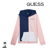 Guess(ゲス) キッズ用トップス ★GUESS★大人もOK! ジップアップパーカー/Pink & Blue 7-16Y