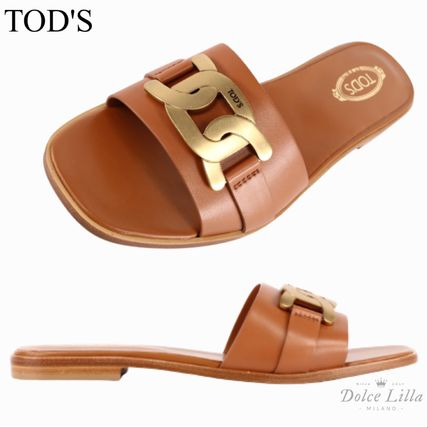 TOD'S  Chain sandal brown