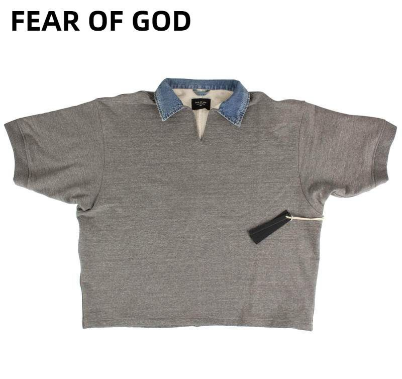Fear of God 5th collection Vネックコットンポロシャツ グレー (FEAR OF GOD/ポロシャツ) 65307227