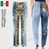 Dolce gabbana patchwork jeans