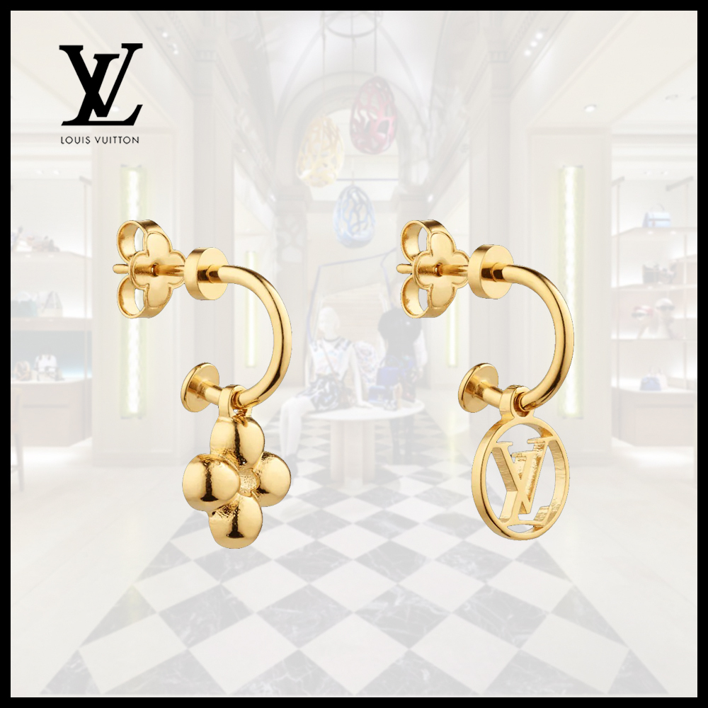 Louis Vuitton(ルイヴィトン)BLOOMING EARRINGS LV Gold (Louis Vuitton/イヤリング) M64859