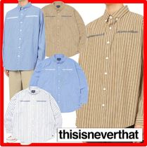★人気★【thisisneverthat】★MI-Logo Striped Shir.t★シャツ