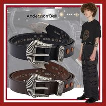 【ANDERSSON BELL】SIENNO WESTERN LEATHER BELT