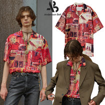 ★ANDERSSON BELL★送料込み★人気 BUENO RED OPEN COLLAR SHIRT