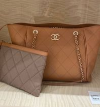 2021 S/S CHANEL 最新作★QUILTED TOTE with Pouch in 各色
