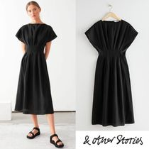 【& Other Stories】上品 Gathered Waistline Midi Dress 2色