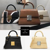 ★Charles & Keith★Effect Strucked Sculptural Bag ★5色