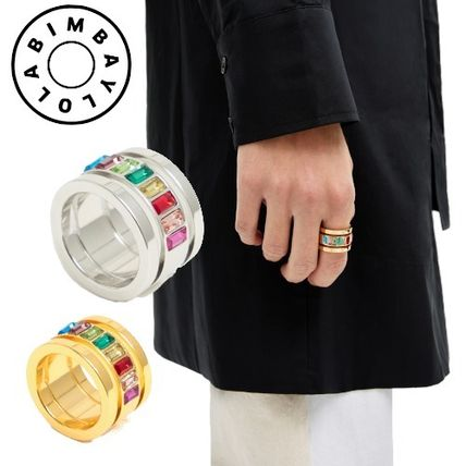 【BIMBA Y LOLA】WIDE RING WITH GOLDEN / SILVER BANDS