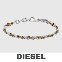 UK発★DIESEL 'TWO-TONE BRAIDED' メンズブレスレット
