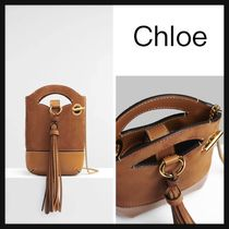 【Chloe】直営/正規店 walden small phone pouch ポーチ 肩掛 茶