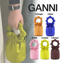 【GANNI】★大人気★バッグ★ SATIN KNOTS TOP HANDLE PURSE