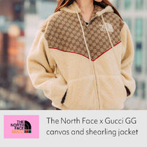 The North Face x Gucci GG canvas and shearling jacket