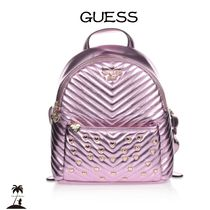 Guess(ゲス) 子供用リュック・バックパック ★GUESS★メタリックバックパック(26cm)/Pink