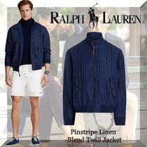 NEW!!【Polo Ralph Lauren】Pinstripe Linen-Blend Twill Jacket