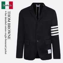 THOM BROWNE(トムブラウン) ジャケットその他 Thom Browne 4-bar detailed cotton single-breasted jacket