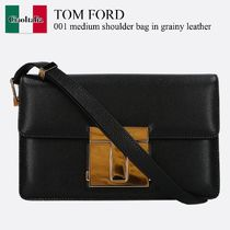 Tom Ford 001 medium shoulder bag in grainy leather