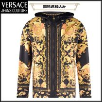 VERSACE JEANS COUTURE バロック柄 ウィンドブレーカー アウター