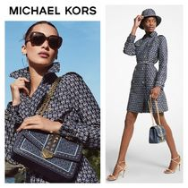 【Michael Kors】●大人気●Diamond Logo Jacquard Trench Coat