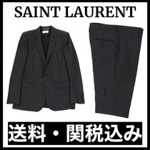 【関送料込み】SAINT LAURENT/Wool suit gray