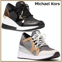 国内発送【Michael Kors】Liv Trainer Logo Sneakers