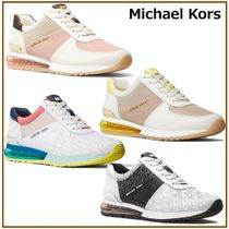 国内発送【Michael Kors】Allie Extreme Mixed-Media Trainer
