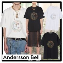 ☆ANDERSSON BELL☆UNISEX SMILE EARTH EMBROIDERY T-SHIR.T★