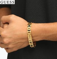【GUESS】ブレスレットFrontier Plate & Black Crystal 金/黒