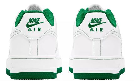 Nike キッズスニーカー 大人も履ける*Nike Kids' Grade School Air Force 1 Shoes*緑(3)
