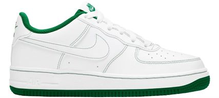 Nike キッズスニーカー 大人も履ける*Nike Kids' Grade School Air Force 1 Shoes*緑(4)