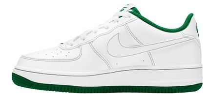 Nike キッズスニーカー 大人も履ける*Nike Kids' Grade School Air Force 1 Shoes*緑(5)