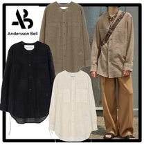 ANDERSSON BELL(アンダースンベル) シャツ ★ANDERSSON BELL★COLLARLESS EMBROIDERY COTTON SHIRT.S★