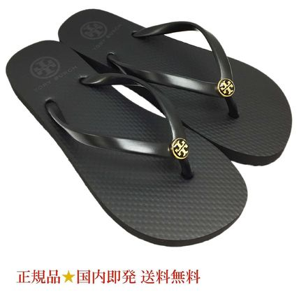 TORY BURCH50008666-009OUT THIN FLIP FLOP BK/BKサンダル(新品)