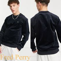 Fred Perry★woven コーデュロイ トレーナー Navy 送関込