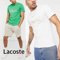 【Lacoste】ロゴTシャツ ホワイト/グリーン 送料・関税込み