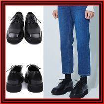 [OPEN THE DOOR] cow hide square derby loafer  ◆追跡付