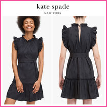新作!! ☆kate spade☆ embroidered poplin mini dress