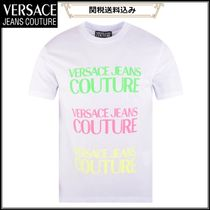 VERSACE JEANS COUTURE*ホワイトネオン ロゴ半袖Tシャツ 白