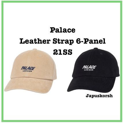21 SS Palace Leather Strap 6-Panel 2色