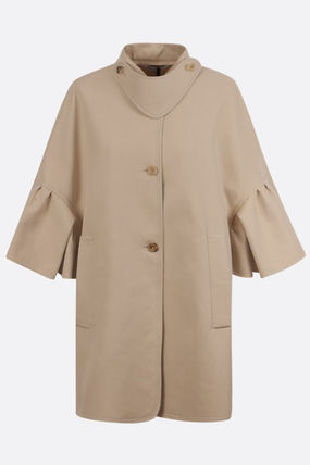 MAX MARA★ss21/DERRIS SINGLE-BREASTED COTTON CAPE